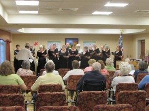Singing at Dogwood Village 091214