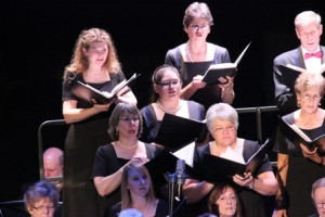 The soprano section of the Chorale at the State Theatre on Dec 7, 2014